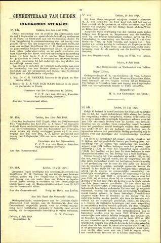 Handelingen van de Raad 1928-07-08