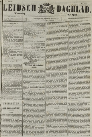 Leidsch Dagblad 1873-04-30