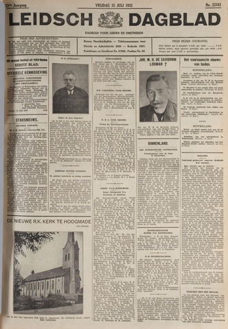 Leidsch Dagblad 1932-07-15