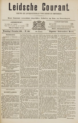 Leydse Courant 1885-12-09