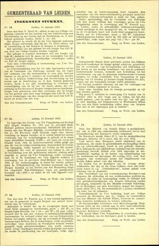 Handelingen van de Raad 1935-01-18