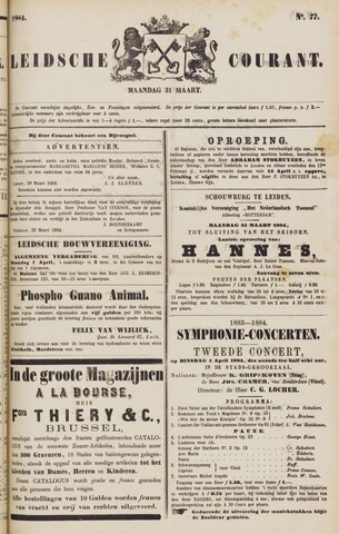 Leydse Courant 1884-03-31