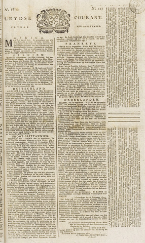 Leydse Courant 1814-09-30