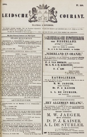 Leydse Courant 1884-11-03