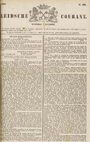 Leydse Courant 1883-11-07