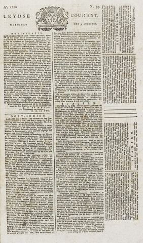 Leydse Courant 1820-08-09
