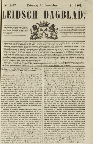 Leidsch Dagblad 1864-12-10