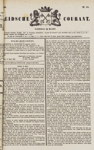 Leydse Courant 1885-03-28