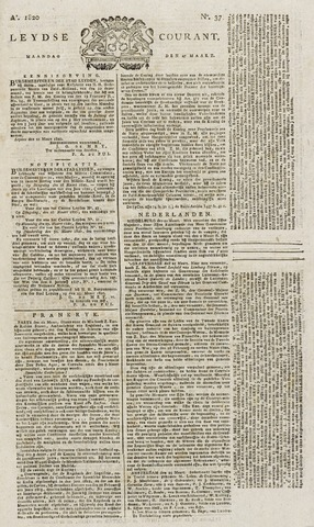 Leydse Courant 1820-03-27