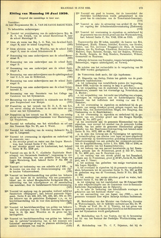 Handelingen van de Raad 1930-06-16