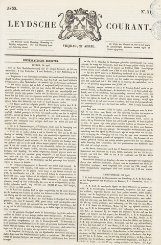 Leydse Courant 1855-04-27