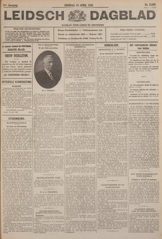 Leidsch Dagblad 1930-04-15