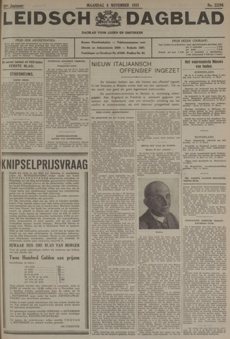 Leidsch Dagblad 1935-11-04