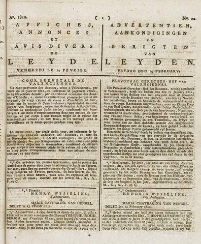 Leydse Courant 1812-02-14