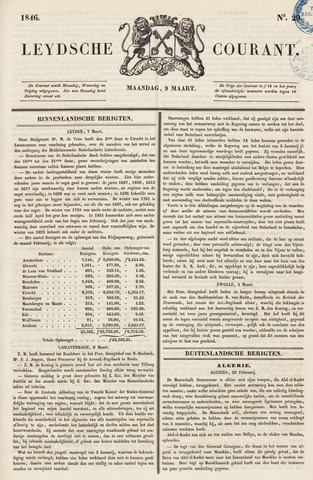 Leydse Courant 1846-03-09