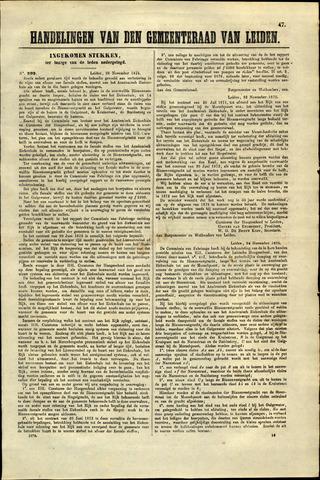 Handelingen van de Raad 1875-11-29