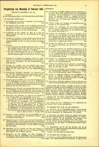 Handelingen van de Raad 1933-02-13