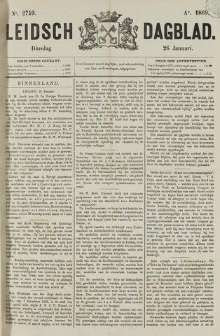 Leidsch Dagblad 1869-01-26