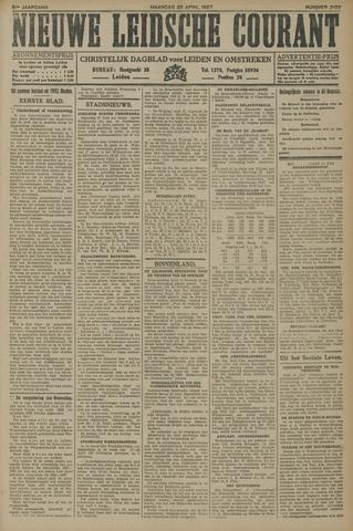 Nieuwe Leidsche Courant 1927-04-25
