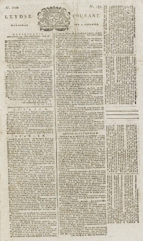 Leydse Courant 1820-11-15
