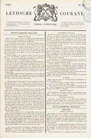 Leydse Courant 1850-02-22