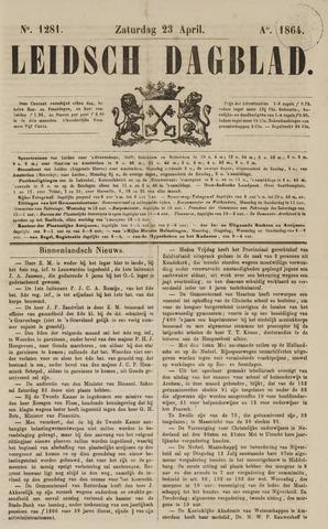 Leidsch Dagblad 1864-04-23