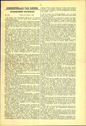 Handelingen van de Raad 1932-10-25