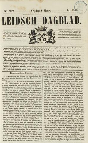 Leidsch Dagblad 1863-03-06