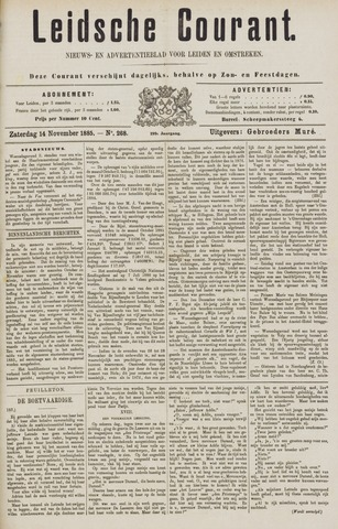 Leydse Courant 1885-11-14