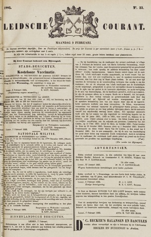 Leydse Courant 1885-02-09