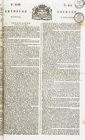 Leydse Courant 1843-09-18