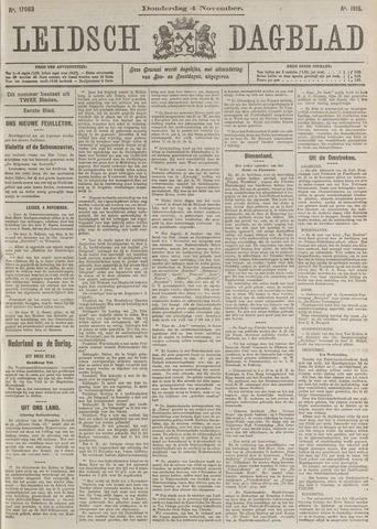 Leidsch Dagblad 1915-11-04