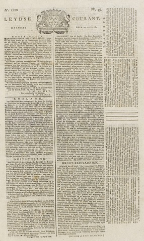 Leydse Courant 1820-04-24