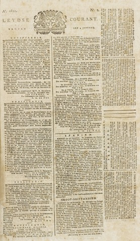 Leydse Courant 1822-01-04