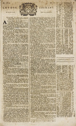 Leydse Courant 1815-01-18
