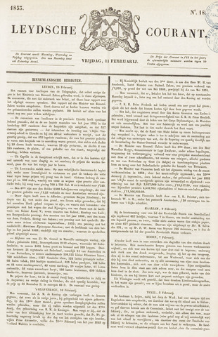 Leydse Courant 1853-02-11
