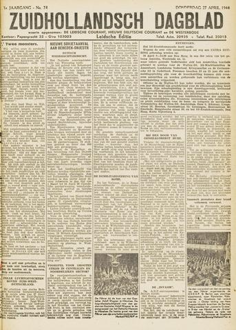 Zuidhollandsch Dagblad 1944-04-27
