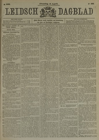 Leidsch Dagblad 1909-04-06