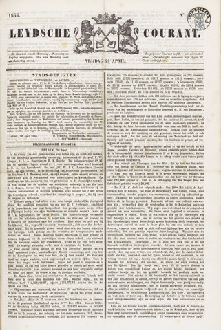 Leydse Courant 1865-04-21