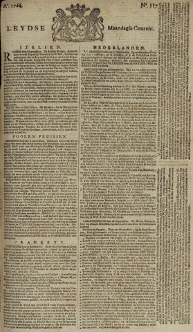 Leydse Courant 1766-09-29