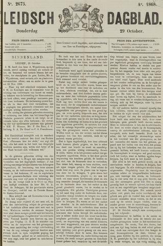 Leidsch Dagblad 1868-10-29