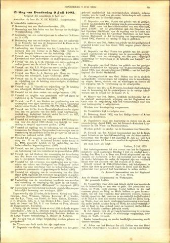 Handelingen van de Raad 1903-07-09