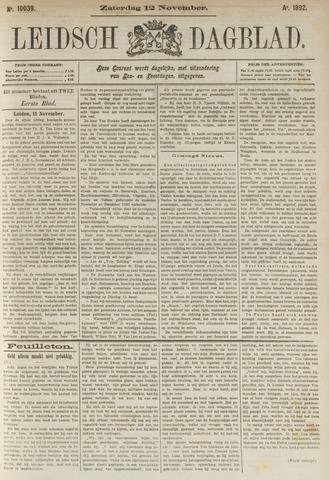 Leidsch Dagblad 1892-11-12