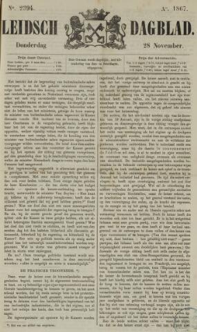 Leidsch Dagblad 1867-11-28