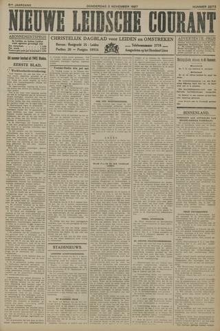 Nieuwe Leidsche Courant 1927-11-03