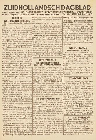Zuidhollandsch Dagblad 1944-10-02
