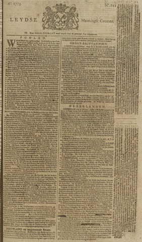 Leydse Courant 1773-10-11