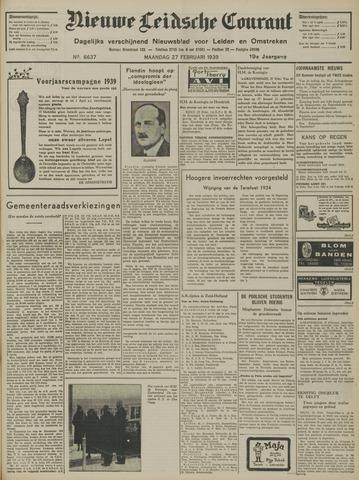 Nieuwe Leidsche Courant 1939-02-27
