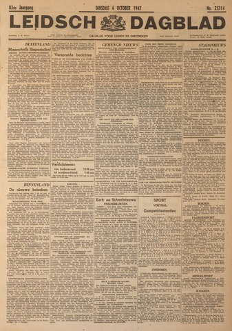 Leidsch Dagblad 1942-10-06