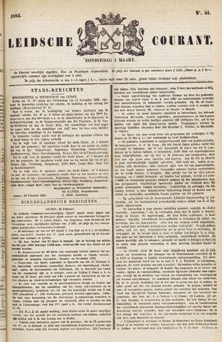 Leydse Courant 1883-03-01